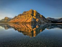 Bow Lake Bounty (Philip Kuntz) Tags: bowlake crowfootmountain reflections sunrise sunup dawn daybreak firstlight icefieldsparkway banff banffnationalpark alberta canada