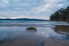 Daybreak waterscape on an overcast day at Umina Point (Merrillie) Tags: daybreak uminabeach sand landscape nature australia mountains nswcentralcoast newsouthwales sea nsw uminapoint beach ocean centralcoastnsw umina waves photography waterscape outdoors seascape water centralcoast sunrise rocks