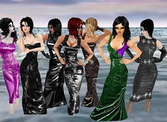 Sea Party 5 (SoakinJo) Tags: imvu wetlook wetclothes soakinjo wetdress clothed sea