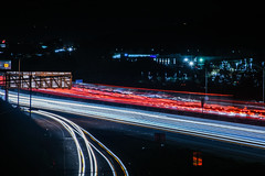 injury accident on the altamont grade (pbo31) Tags: color california bayarea nikon d810 december 2016 boury pbo31 winter night dark lightstream motion traffic roadway black 580 highway exit ramp traffc accident livermore eastbay rushhour over alamedacounty
