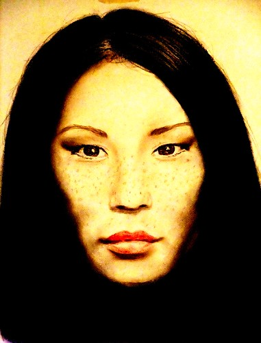 Lucy Lui: Hot freckle faced beauty (version 2)