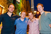Rich Berney, Chris Ryan, Ross O'Sullivan and Oisin Moore pictured enjoying the Coors Light Live in the Latin Quarter Weekend outside the Townhouse on Sunday evening. Photo: Reg Gordon