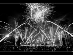IllumiNations in Black & White (Adam Hansen) Tags: photoshop blackwhite epcot fireworks illuminations wdw waltdisneyworld lightroom disneyphotographyblog