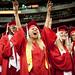 Spring 2012 graduates celebrate as the Chancellor confers their degrees.