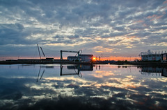 Sunrise reflections at Middlehaven (paul downing) Tags: summer sunrise dock nikon middlesbrough able mfc middlehaven temenos pd1001 d7000 pauldowning pauldowningphotography