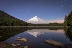 Trillium Lake Mt. Hood (erika eve) Tags: sky lake mountains water night afterdark trilliumlake mthoodnationalforest