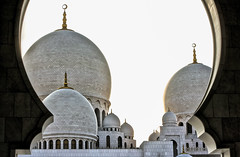 Framed Minarets (Naveed Siraj) Tags: blue white tourism architecture framed tomb uae structure abudhabi marble minarets grandmosque minars