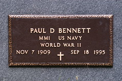 Military plaque for my grandfather on the back side of gravestone (Lee Bennett) Tags: cemetery grave death franklin bury north carolina tippett