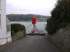 Whitehouse Rocket (Worthing Wanderer) Tags: grey coast spring cornwall cloudy harbour path windy estuary april fowey dull southwestcoastpath