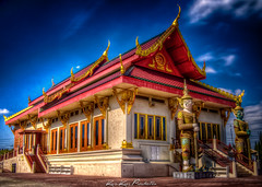 The Buddhist Temple of North Hollywood, CA (Kris Kros) Tags: church photoshop thailand temple happy photography la losangeles los day noho angeles nirvana buddha buddhist north hollywood thai kris wat buddhisttemple hdr kkg vesak northhollywood photomatix kros kriskros happyvesakday kkgallery