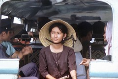 Local girl in local bus (Gene Whitmer) Tags: vietnam 1972 dinhtuong