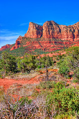 Red Rock Country (aeneas66) Tags: park travel blue sunset red arizona cactus sky orange white mountain southwest tree nature rock sonora rural america cacti dark landscape outdoors sandstone solitude open desert natural bright sunny canyon erosion formation vegetation weathered geology saguaro desolate cholla southwestern outstanding stately geological prominent