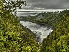 Quebec City (MomoFotografi) Tags: city canada rain fog river landscape waterfall pluie olympus rainy québec quebeccity stlaurent paysage montmorency zuiko saintlaurent chute hdr ville e5 chutes fleuve olympuse5