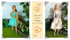 Taylor and Connie (Flava Sweet) Tags: wedding trendy mattel misaki integritytoys katniss destinationnewyorkmisaki flavasweet laurenland misakitrendy