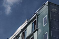 Architecture (sylvie0928) Tags: windows sky cloud reflection berlin glass architecture modern germany geometry shapes line reflet pure cristal allemagne rectangle batiment lineas fenetres edifice geometrie formes