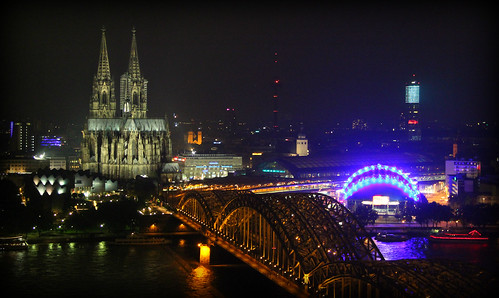 Koln city at night
