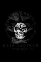 Ghost Skull II (Erin Cadigan Photography) Tags: white black blur art halloween face danger dark movie dayofthedead dead skeleton death skull scary blurry symbol head background fear ghost gothic decoration evil icon haunted spooky celebr