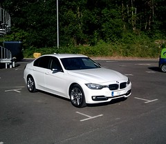 mein neues Auto (Gweems) Tags: windows white 3 black sport mirror rear caps wing bmw series tinted