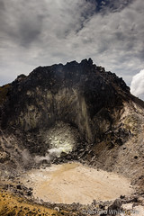 Vents and gas come from the caldera of Mount Sibayak, Indonesia (WhitcombeRD) Tags: sumatra indonesia vent volcano asia hiking steam gas mount crater caldera active sibayak