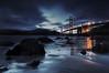 Night Falls at Marshall Beach (Andrew Louie Photography) Tags: life california camera bridge summer beach night canon reflections photography lights golden gate san francisco marin marshall headlands