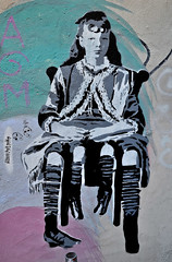 HH-Stencil 580 (cmdpirx) Tags: street urban color colour art public cutout painting fun one graffiti stencil paint artist space raum kunst strasse hamburg humor can spray mina crew da layer multiple hh lydia aerosol farbe knstler schablone ffentlicher