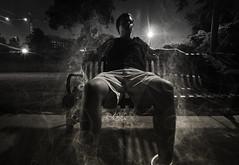 Smokin' (Jonathan Daniels1) Tags: portrait bench nikon long exposure university crane alabama landing smokey manderson elwire d7100