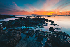 DSC_1212 (Treven Wong) Tags: pink sunset red sky seascape beach pool clouds sunrise landscape hawaii colorful tide d800 1635