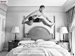 Like Hurdling Over The Bed (Alesfra) Tags: espaa man cortina lamp face grancanaria familia