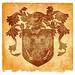 Double-Headed Eagle Grunge Emblem - Sepia