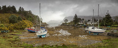 Moored up in rainy Plockton (Katybun of Beverley) Tags: boats scotland plockton lochcarron