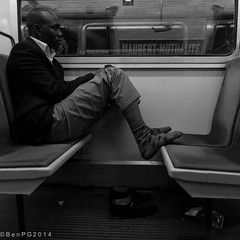 A long road in the eyes (Ben PG) Tags: street man paris france station underground subway shoes mtro tube tired fatigue francia homme chaussures parigi