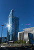 First in Courbevoie (Thierry Poupon) Tags: soleil bleu reflet ladéfense verre brillant tourfirst quaidedion