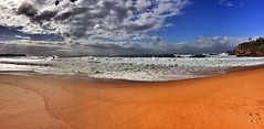Wintery morning at Warriewood Beach (NinianLif) Tags: winter panorama seascape beach sydney northernbeaches warriewoodbeach iphone6