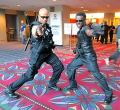 Blade: The Vampire Hunter (MorpheusBlade) Tags: sunglasses costume cosplay comicon wizardworld wesleysnipes daywalker bladetheseries bladehouseofchthon bladethevampireslayer bladethevampirekiller bladethevampirehunter 2015wizardworldphilly 2015wizardworldphiladelphia