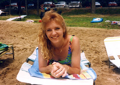 #TDIH - May 14 1991 (WindJammer Photo) Tags: camping beach beautiful beauty smile canon gorgeous may ps blonde wife 1991 campground tdih