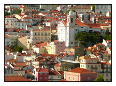 City of Lisbon (Audrey A Jackson) Tags: city trees windows colour tower history portugal church architecture buildings cityscape rooftops outdoor lisbon chimneys panasonicdmctz3
