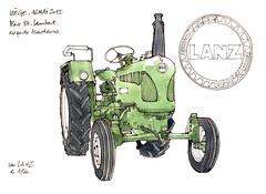 Lanz 1960 (gerard michel) Tags: sketch tracteur lanz croquis ancêtre