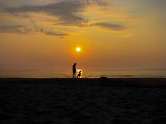 baby_h-25 (markstrohmjr) Tags: sun sunlight beach water silhouette clouds sunrise sand shore jerseyshore