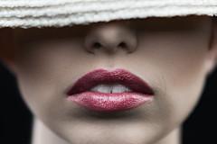 Lips (levent_eryilmaz) Tags: red girl beauty face look hat magazine studio model skin creative makeup lips lipstick chicagoist strovist edutorial