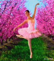 Ballet in the orchard (AJones_Revealed) Tags: ballet ballerina dancing orchard plumtrees pinktrees