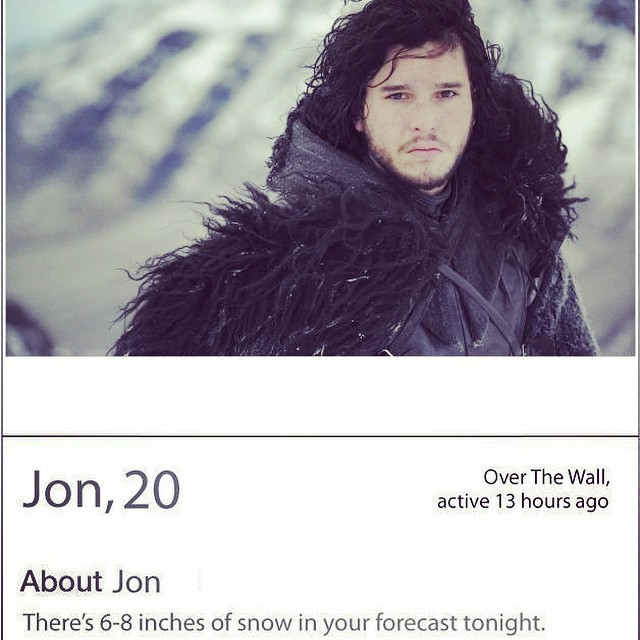 In memory of Jon snow 😪 #gameofthrones