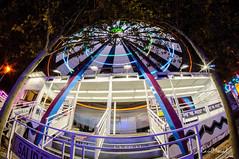 Por las fiestas de El Pilar y alrededores (Ral Moral) Tags: nikon nikond90club d90 fisheye ojodepez samyang 8mm f35 nightscenes longexposition