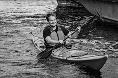 Kayaking in Copenhagen (Marcy Leigh) Tags: kayakingincopenhagen action kayak copenhagen outdoor outdoors water boat canal paddling splash 52in2016challenge