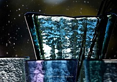 Glass Texture (Photographybyjw) Tags: glass texture vintage shelf with an old window behind it creates some very strong this north carolina photograph photographybyjw color reflections