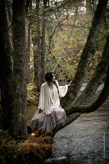 Last days in autumn (imagomagia) Tags: art artphoto artphotography autumn brown colors fall female fineartphotography forest fujix light modele natre naturallight river