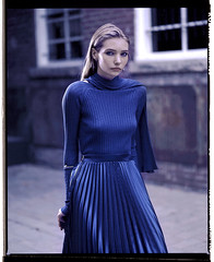 Laurel (odysseuseses) Tags: portrait beauty model film analogue mamiya 67 kodak ektar