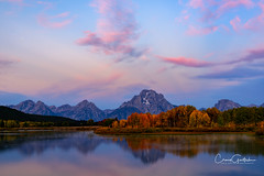 Oxbow Magic (craig goettsch) Tags: oxbowbend snakeriver water reflection clouds pink sunrise fallcolors autumn river grandtetonnp mountains nikon d810 landscape nature ngc npc