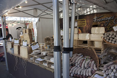 Cheese and sausages! (delicious stuff) (rfzappala) Tags: europe 2016 france paris cheese sausage delicious stall