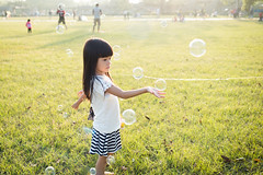 Late afternoon (Wunkai) Tags: xitundistrict taichungcity taiwan tw    metropark ziyiwang grass bubble   backlight