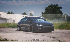 VW SCIROCCO (JAYJOE.MEDIA) Tags: vw scirocco volkswagen low lower lowered lowlife stance stanced bagged airride static slammed wheelwhore vossen